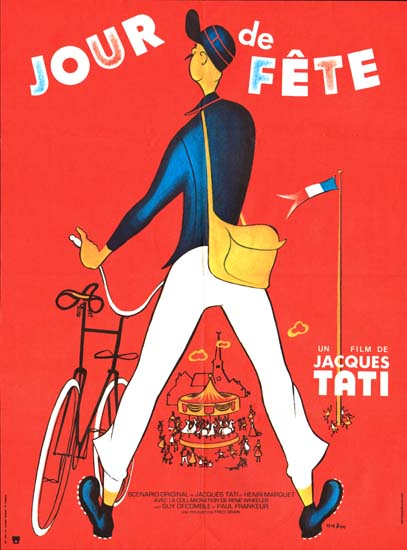 Jour de Fete [ Holiday ] [ The Big Day ] French movie poster