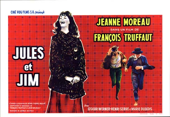 Jules et Jim Belgian movie poster