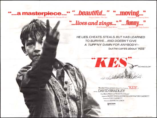 Kes UK Quad movie poster