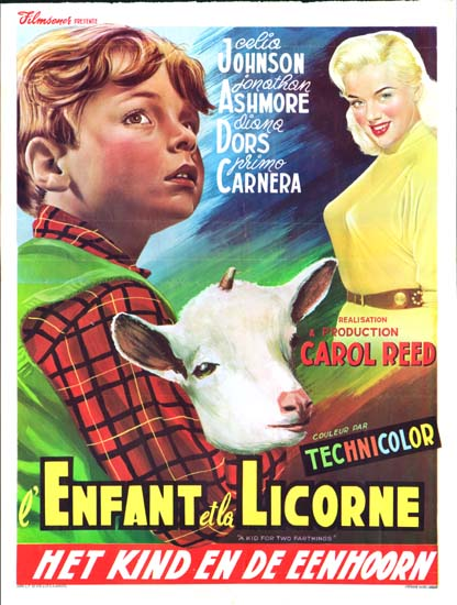 Kid For Two Farthings, A Belgian movie poster