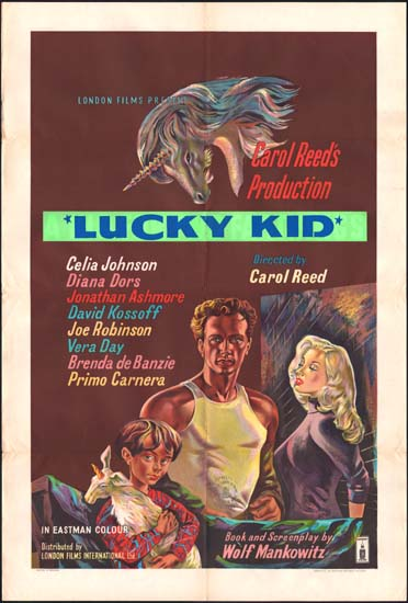 Kid For Two Farthings, A [ Lucky Kid ] UK One Sheet movie poster