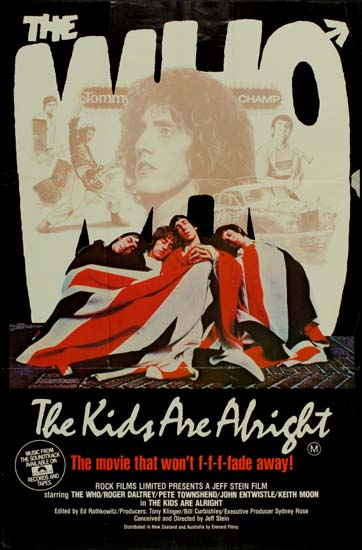 Kids Are Alright, The Australian One Sheet movie poster