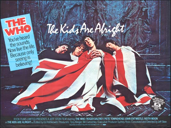 Kids Are Alright, The UK Quad movie poster