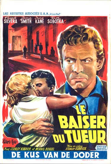 Killers Kiss Belgian movie poster