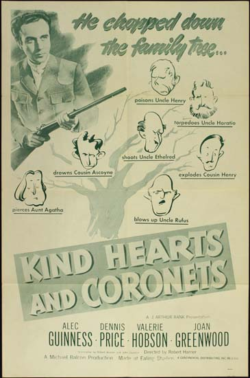 Kind Hearts and Coronets US One Sheet movie poster