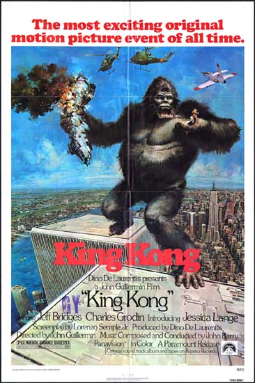 King Kong US One Sheet movie poster