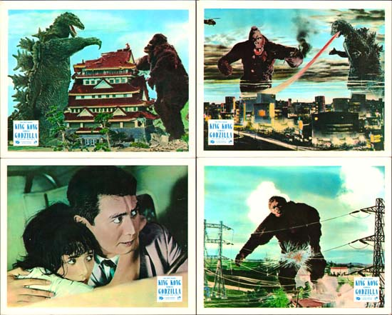 King Kong vs Godzilla [ Kingu Kongu tai Gojira ] UK FOH set of 8