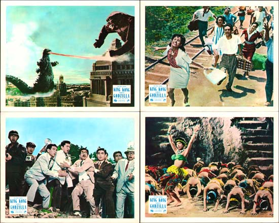 Image 2 of King Kong vs Godzilla [ Kingu Kongu tai Gojira ] UK FOH set of 8
