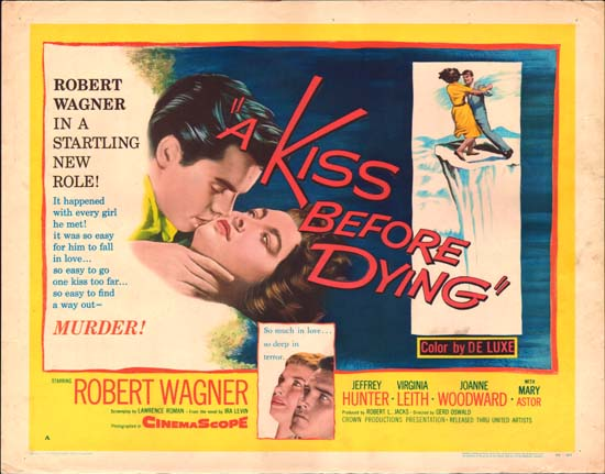 Kiss Before Dying, A US Half Sheet style A movie poster