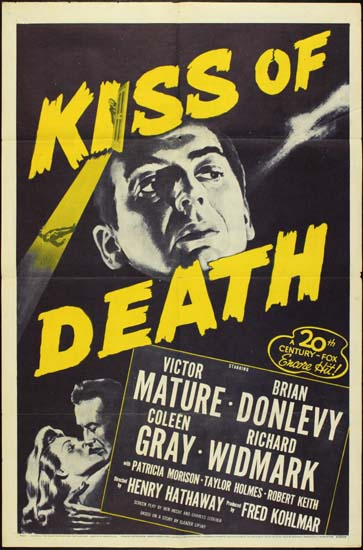 Kiss Of Death US One Sheet movie poster