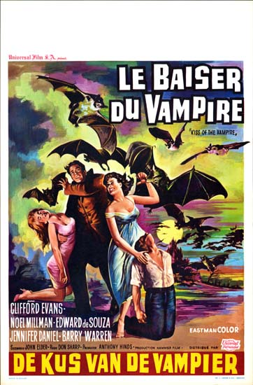 Kiss of the Vampire Belgian movie poster