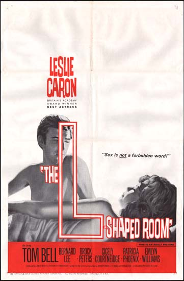 LShaped Room, The US One Sheet movie poster