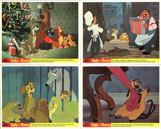 Lady and the Tramp UK FOH set of 8