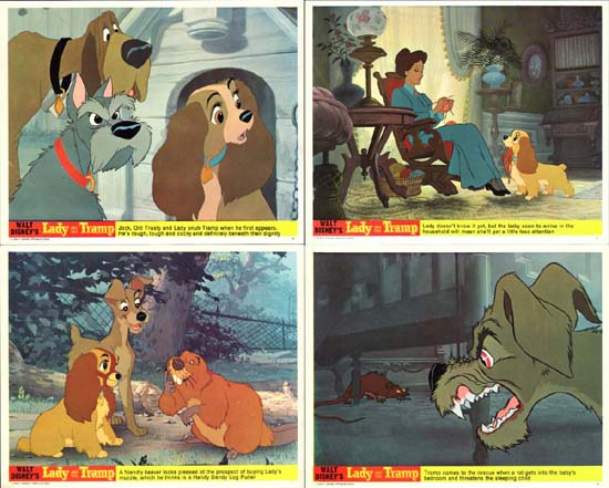 Image 2 of Lady and the Tramp UK FOH set of 8