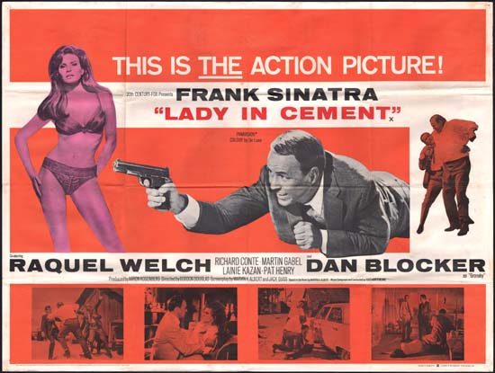 Lady in Cement UK Quad movie poster