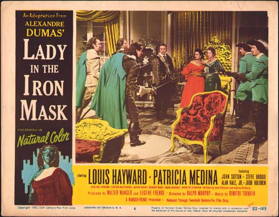 Lady in the Iron Mask US Lobby Card number 8
