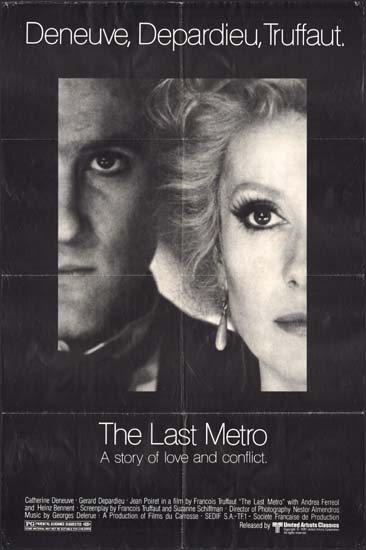 Last Metro, The [ Le Dernier Metro ] US One Sheet movie poster