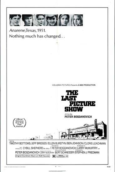 Last Picture Show, The US One Sheet movie poster