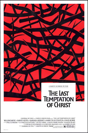 Last Temptation of Christ, The US One Sheet movie poster