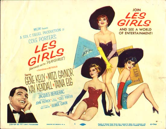 Les Girls US Title Lobby Card