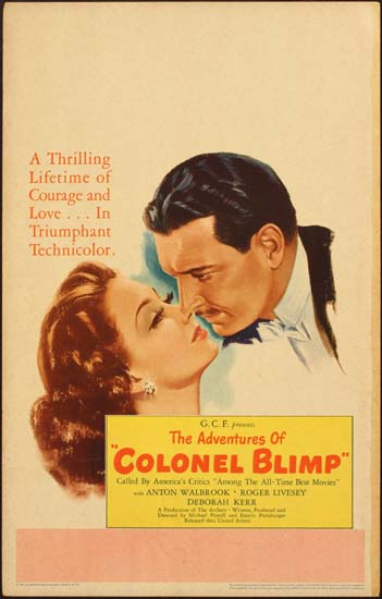 Life and Death of Colonel Blimp, The [ The Adventures of Colonel Blimp ] US Window Card movie poster