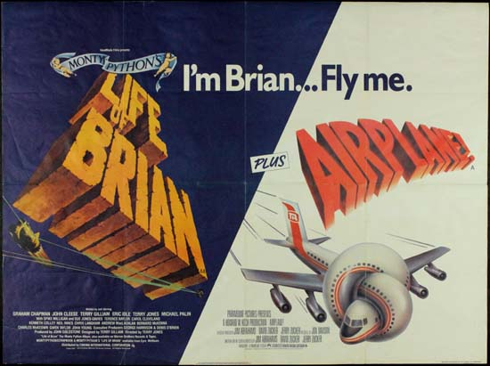 Life of Brian / Airplane UK Quad
