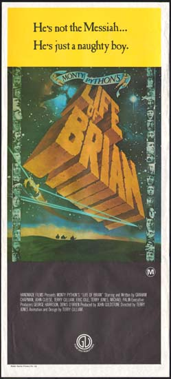 Life of Brian Australian Daybill movie poster