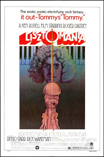 Lisztomania US One Sheet movie poster