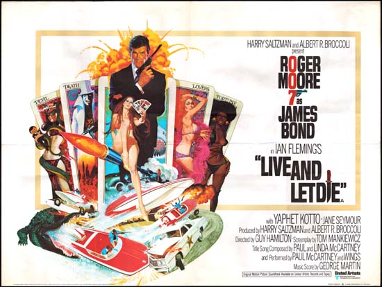 Live and Let Die UK Quad movie poster