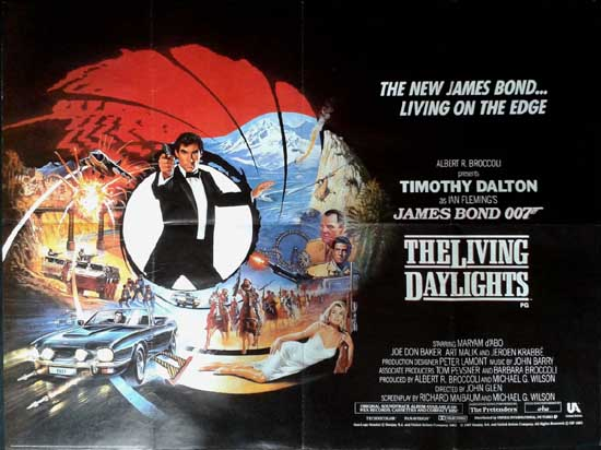 Living Daylights, The UK Quad style A movie poster