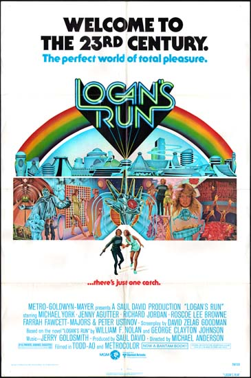 Logans Run US One Sheet movie poster