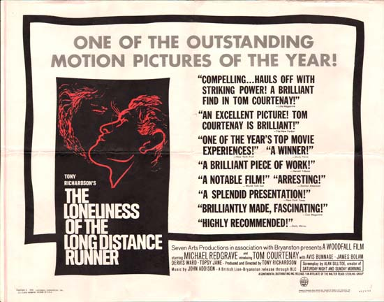 Loneliness of the Long Distance Runner, The US Half Sheet movie poster