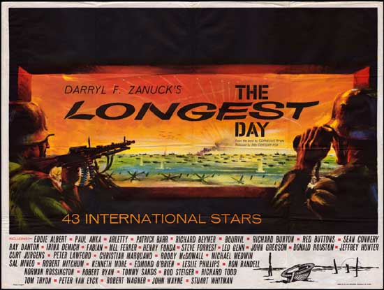 Longest Day, The UK Quad movie poster