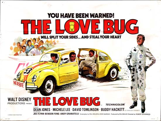 Love Bug, The UK Quad movie poster