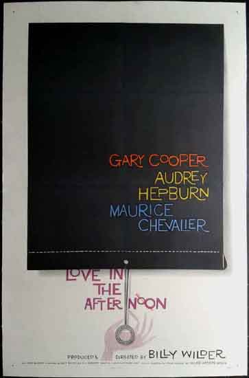 Love in the Afternoon US One Sheet movie poster
