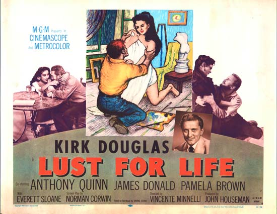 Lust for Life US Half Sheet style B movie poster
