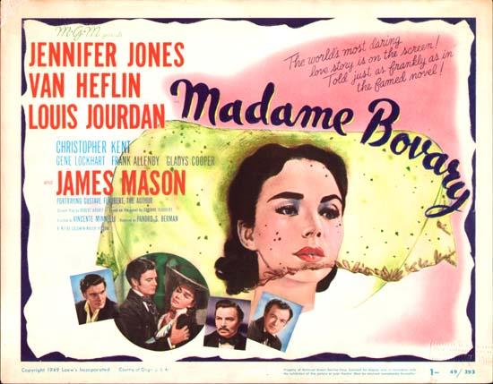 Madame Bovary US Title Lobby Card