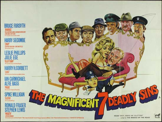 Magnificent Seven Deadly Sins, The UK Quad movie poster
