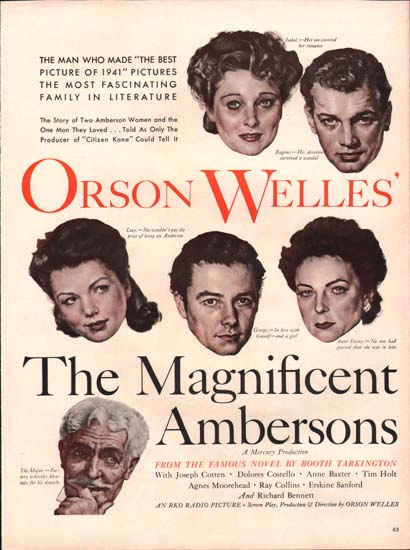 Magnificent Ambersons, The US Print Ad