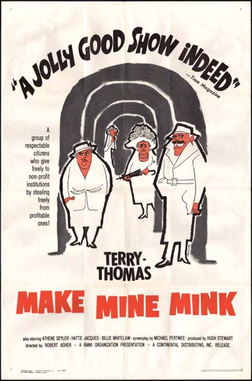 Make Mine Mink US One Sheet movie poster