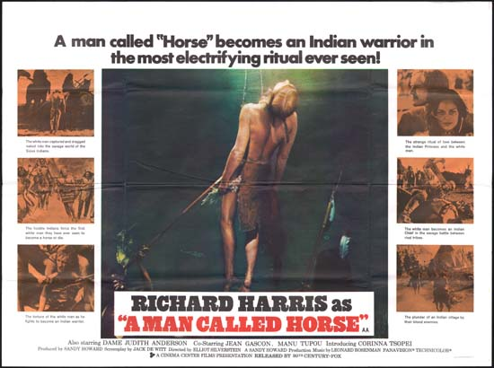 Man Called Horse, A UK Quad movie poster