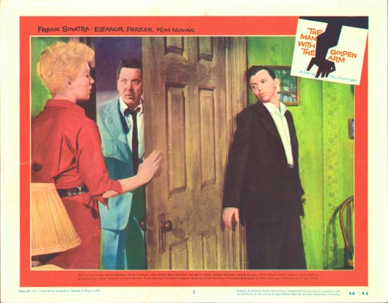 Man with the Golden Arm, The US Lobby Card number 3