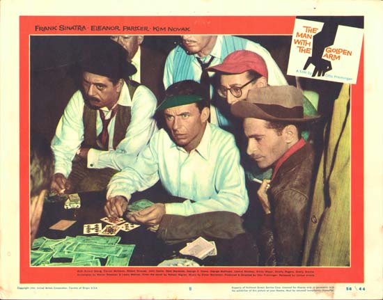 Man with the Golden Arm, The US Lobby Card number 8