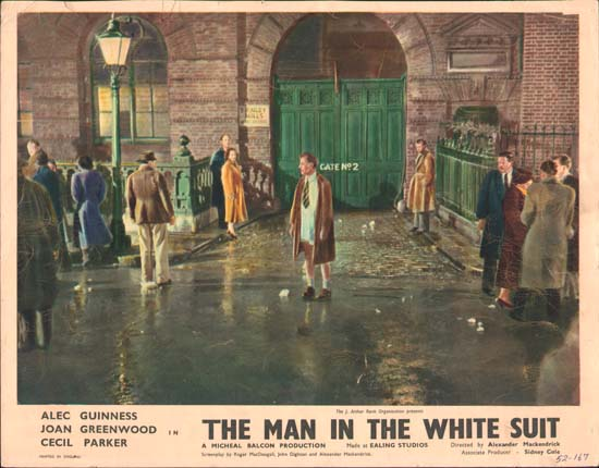 Man in the White Suit UK Lobby Card