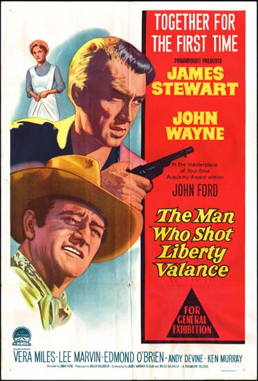 Man Who Shot Liberty Valance, The Australian One Sheet movie poster