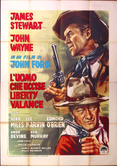 Man Who Shot Liberty Valance, The Italian Quattro Fogli movie poster