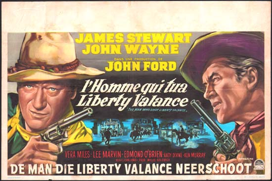 Man Who Shot Liberty Valance, The Belgian movie poster