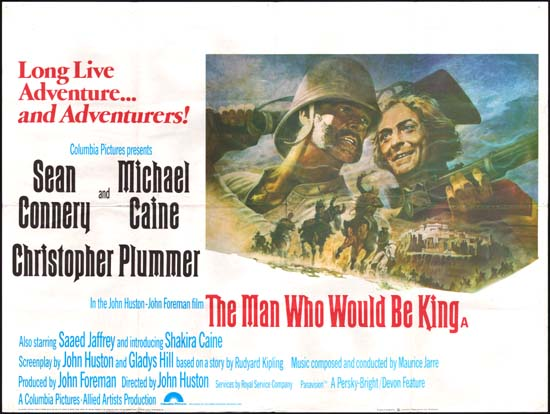 Man Who Would Be King, The UK Quad movie poster