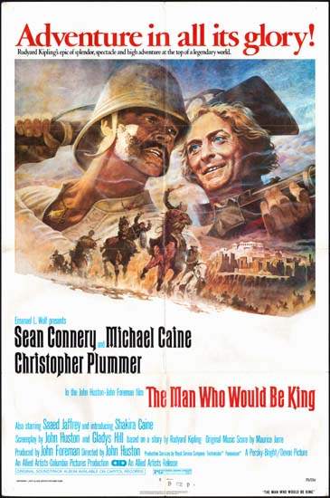 Man Who Would Be King, The US One Sheet movie poster