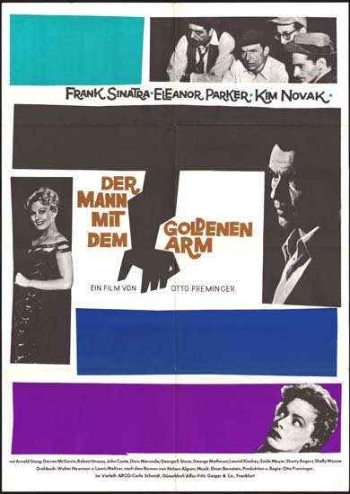 Man with the Golden Arm, The German A1 movie poster